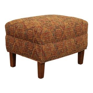 Sam Moore Custom Upholstered Ottoman For Sale