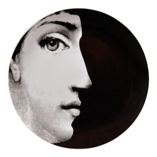 Piero Fornasetti Porcelain Plate Themes & Variation Pattern 114, Profile, Tema E Variazioni For Sale