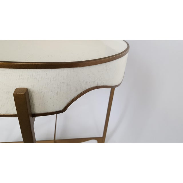 Traditional Gabby Trudy Oval Side Table For Sale - Image 3 of 5