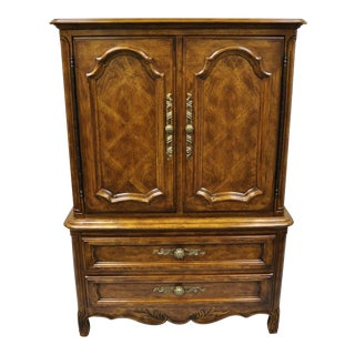 Drexel Cabernet Classics Country French Provincial Tall Chest Dresser Armoire For Sale