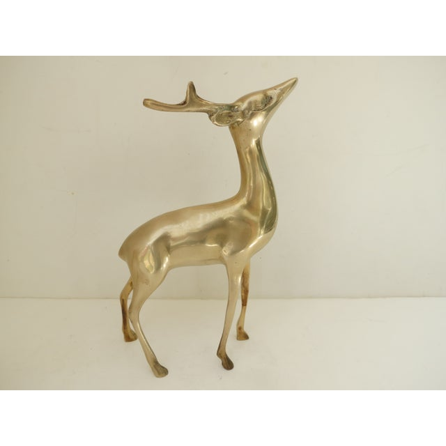 Brass Deer Figurines - A Pair - Image 5 of 8