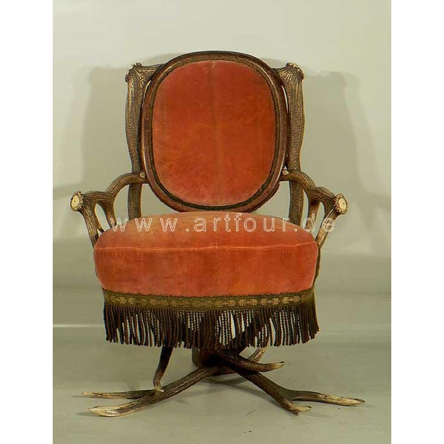 a rare antler armchair made of great original horns from the stag. elaborate manufactured in Austria - most probably by...