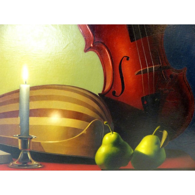 Candle-Lit Still Life Oil Painting by Nicolas Fasolino - Image 7 of 11