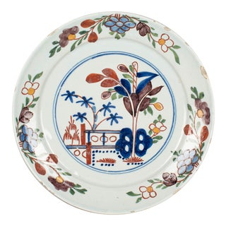 18th Century Delft Ceramic Plate For Sale
