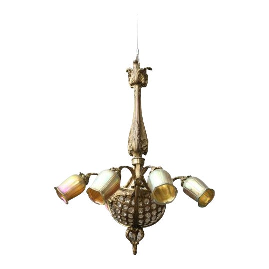 19th century gilt bronze crystal basketheavy louis xv style wheel 19th century gilt bronze crystal basketheavy louis xv style wheel cut crystal chandelier aloadofball Gallery