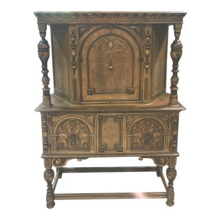 Traditional Berkey and Gay Antique Burl China Cabinet For Sale