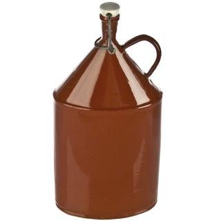 Vintage Brown Enamel European Milk Container