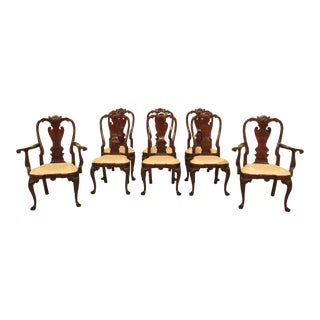 1990s Vintage Stickley Mahogany Colonial Williamsburg Dining Room Chairs- Set of 8 For Sale