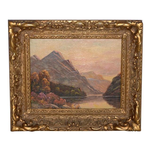 Thomas C. Blake Luminous Mountain Landscape Oil Painting C.1920 For Sale