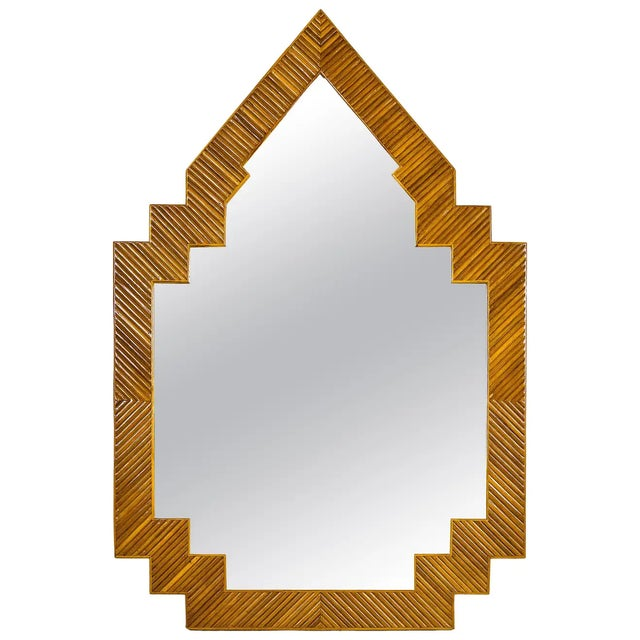 1970s Bamboo Wall Mirror, France For Sale In Greenville, SC - Image 6 of 6