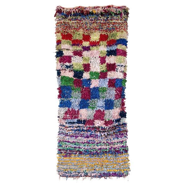 Boucherouite Moroccan Carpet - 8'5'' X 3'10'' - Image 1 of 2