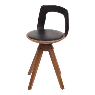 Tove and Edvard Kindt-Larsen Swivel Stool in Teak, 1957 For Sale