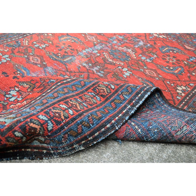 """Antique Hand Knotted Persian Floral Design Rug - 3'6"""" X 4'8"""" For Sale In Richmond - Image 6 of 11"""