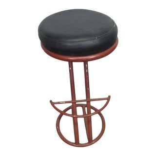Red Metal Base Stool For Sale
