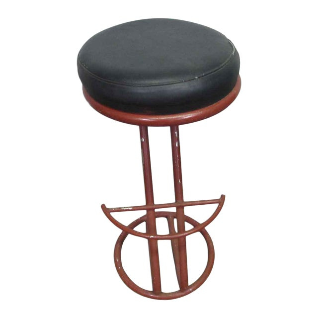 Red Metal Base Stool - Image 1 of 7