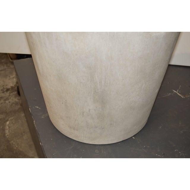 Mid-Century Modern Cast Fiber Cement Planter For Sale - Image 4 of 7