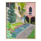 Image of Courtyard at the Gardner Museum by Anne Carrozza Remick For Sale