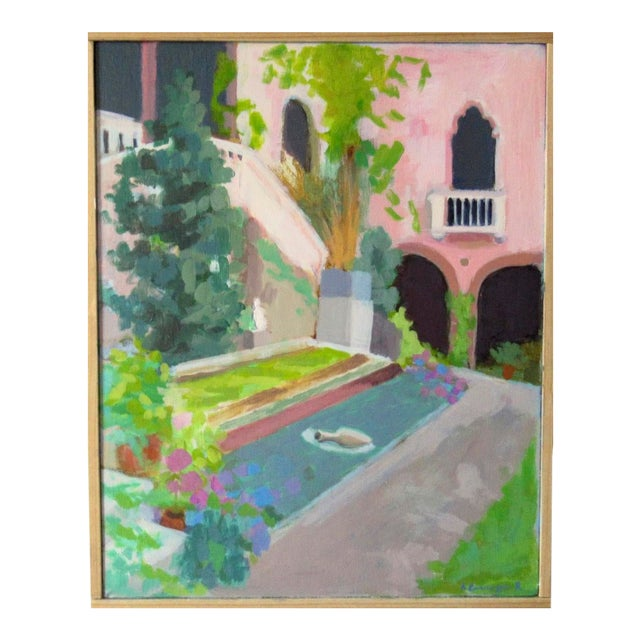 Courtyard at the Gardner Museum by Anne Carrozza Remick For Sale