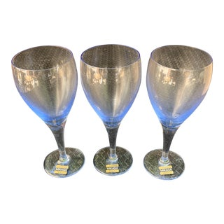 Azure Vintage Mikasa Wine Glasses - Set of 3 For Sale