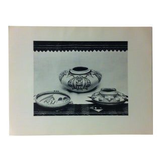 """Circa 1950 """"Hopi Style Pottery"""" Indian Arts Fund Collection Print For Sale"""