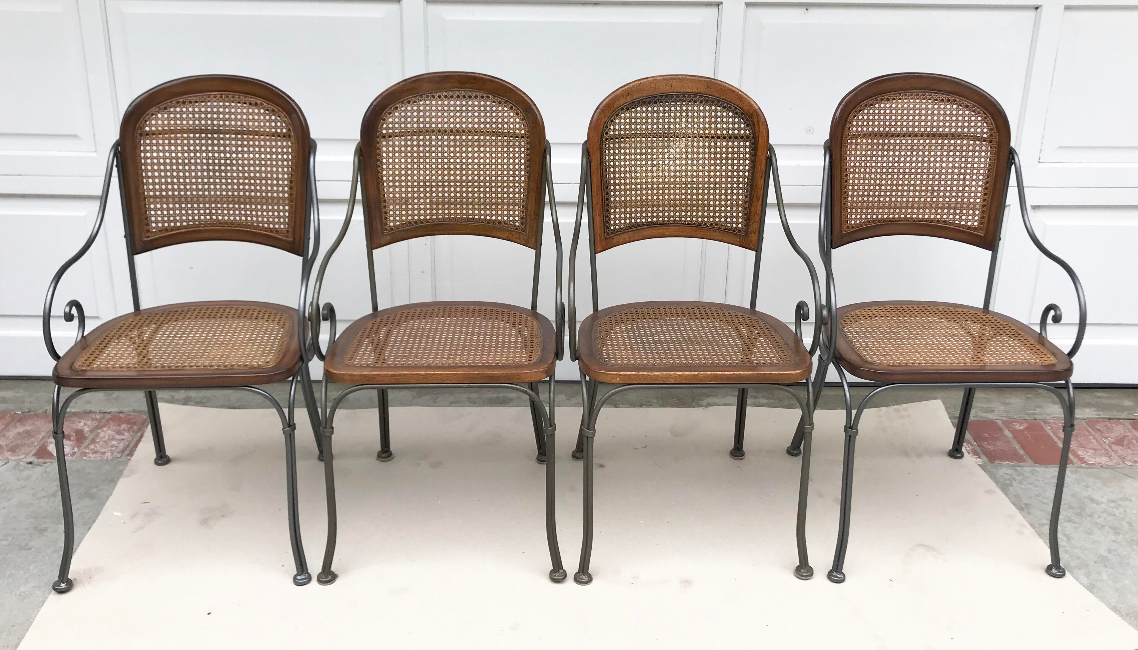 Vintage Iron U0026 Cane Chairs   Set Of 4 For Sale In Los Angeles   Image