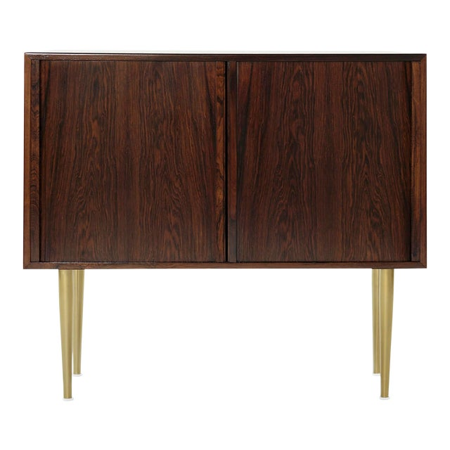 Danish Modern Rosewood Liquor Cabinet, C. 1950s For Sale