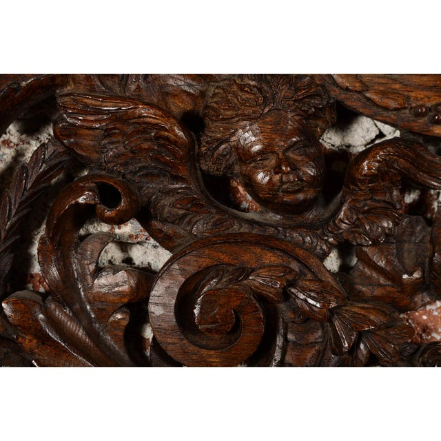 Antique Rococo Carved Wood Wall Panel For Sale - Image 4 of 11