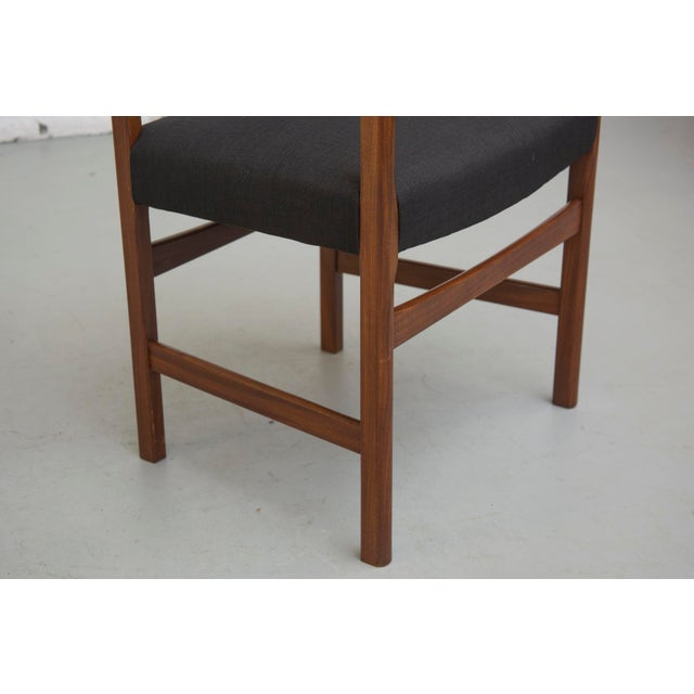 Masculine Danish Mid-Century Dining Chairs - 6 - Image 10 of 11