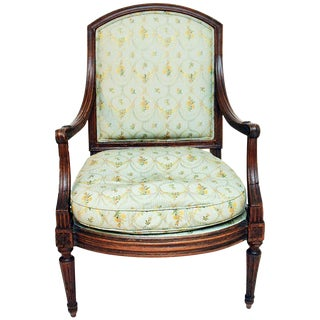 Antique 19th C. French Fauteuil Armchair For Sale