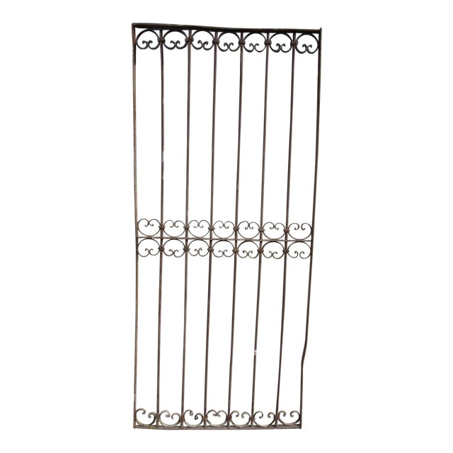 Antique Victorian Iron Salvage Gate For Sale