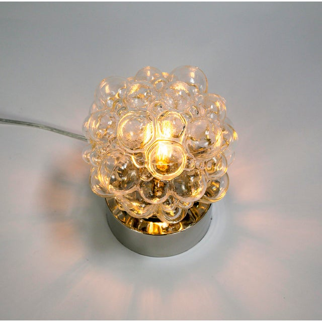 Silver Glass Bubbles Table Lamp For Sale - Image 8 of 14