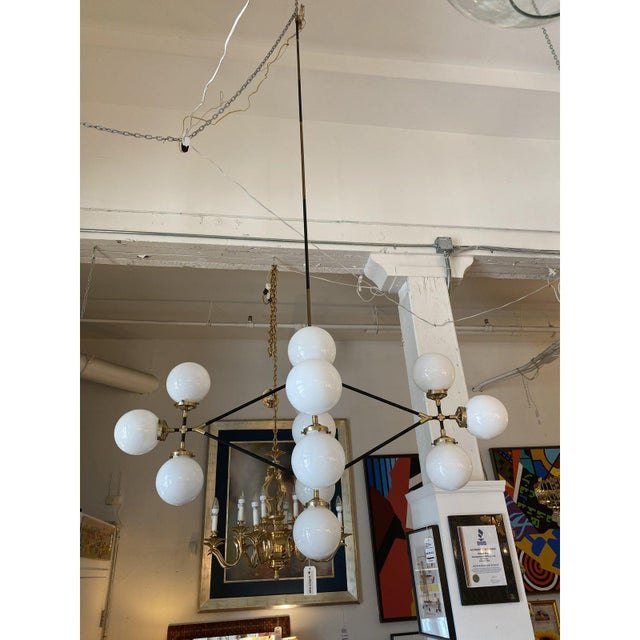 Visual Comfort Ian K. Fowler Bistro Four Arm Chandelier For Sale In San Francisco - Image 6 of 11