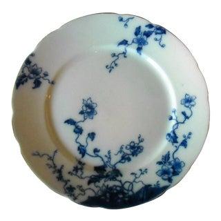 Antique Flow Blue Dinner Plate Duchess Pattern