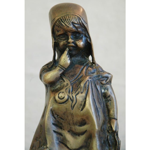 Vintage Juan Clara Style Bronze Girl on Chair For Sale In Los Angeles - Image 6 of 6