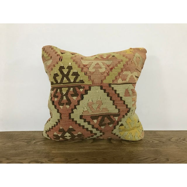 Vintage Turkish Anatolian Handmade Kilim Pillow Cover For Sale In Phoenix - Image 6 of 6