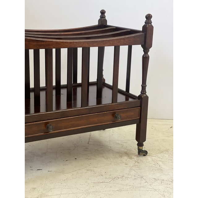 English Early 20th Century English Regency Canterbury For Sale - Image 3 of 13