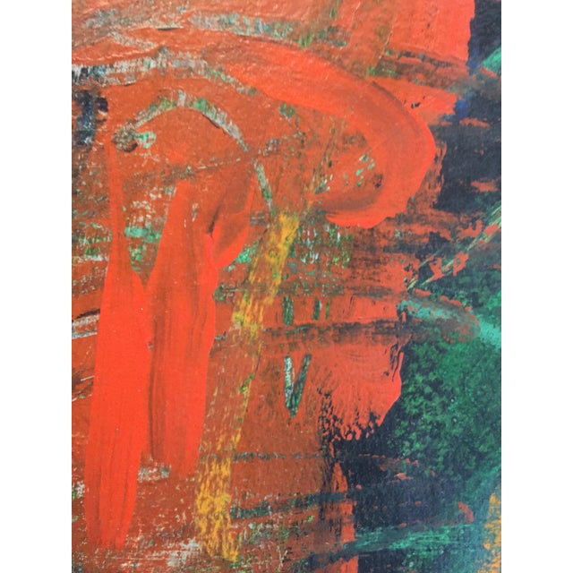1970s Berkeley Artist Vannie Keightly Mixed Media Abstract Painting - Image 3 of 8