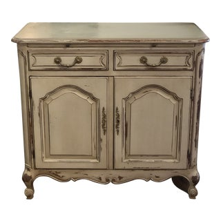Grey French Style 2-Drawer Chest and Cabinet For Sale