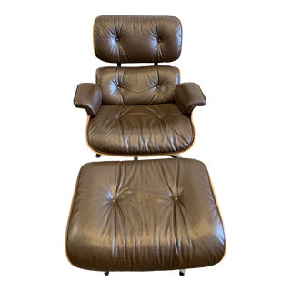 1970s Eames Lounge Chair and Ottoman-A Pair For Sale