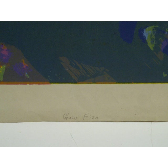 """Limited Edition -- Signed Numbered (X) Print -- Titled """"Gold Fish"""" -- by Okamura For Sale - Image 4 of 6"""