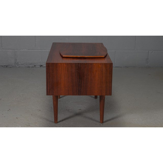 Mid-Century Modern 1950s Danish Modern Kai Kristiansen Rosewood Chest For Sale - Image 3 of 11