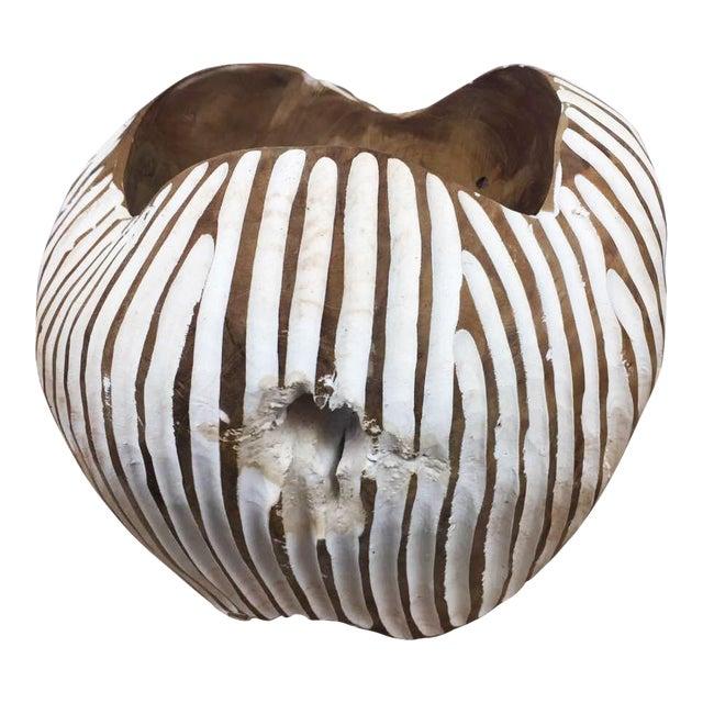 Handmade Teak Wood Bowl For Sale
