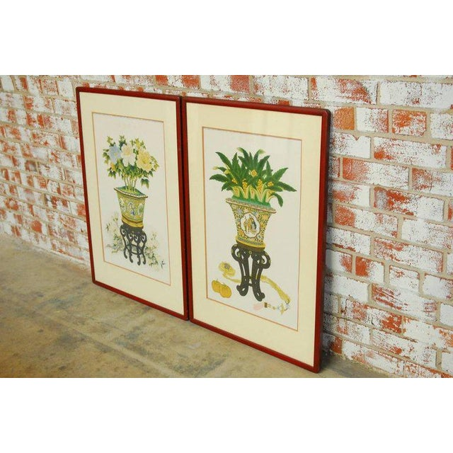 Pair of Chinese Flora and Foliate Still Life Prints For Sale - Image 4 of 10