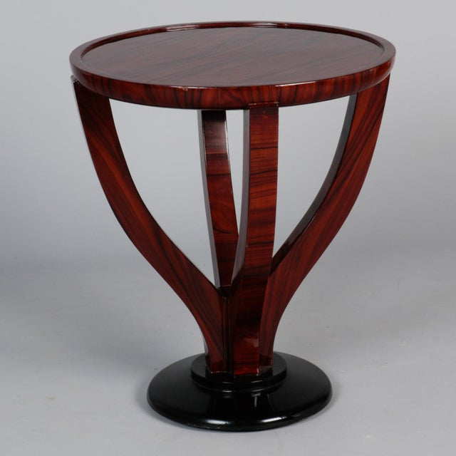 Art Deco Round Palasander Table on Pedestal Base For Sale - Image 4 of 8