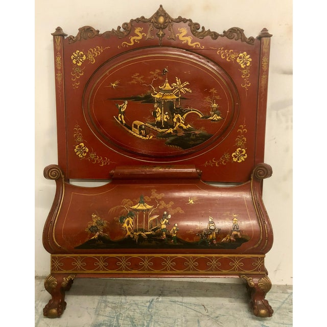 Pair of English Chinoiserie Twin Beds For Sale In Atlanta - Image 6 of 9