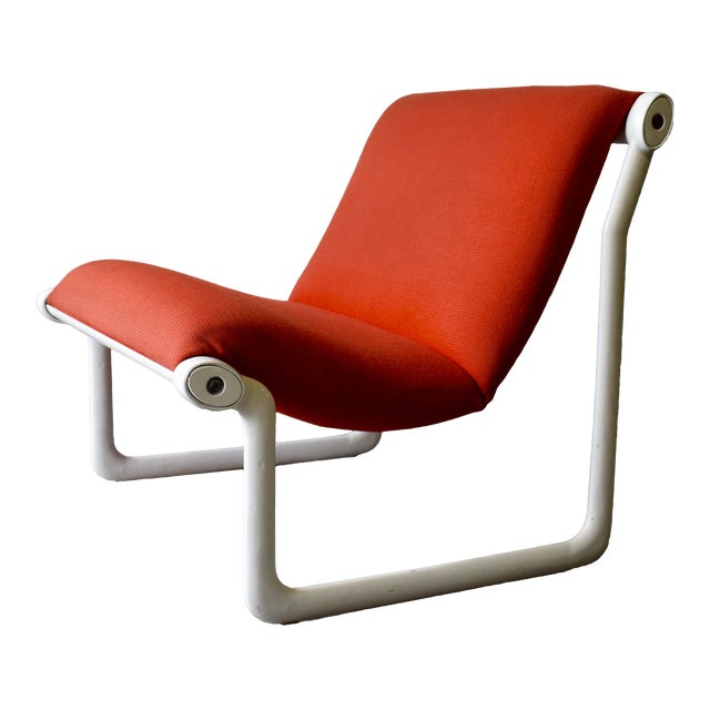 Hannah & Morrison for Knoll Mid Century Modern Sling Lounge Chair For Sale