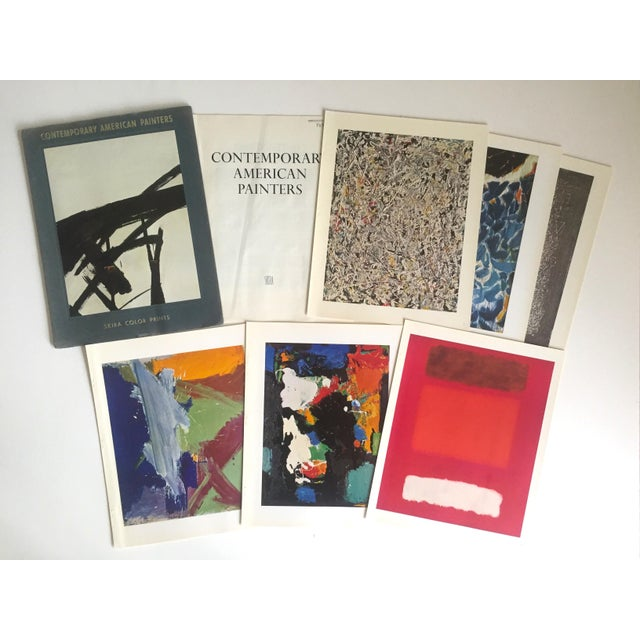 "Vintage 1966 ""Contemporary American Painters"" Abstract Expressionists Lithograph Prints Folio - Set of 6 For Sale - Image 10 of 13"