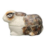 Image of French Majolica Rabbit Tureen For Sale