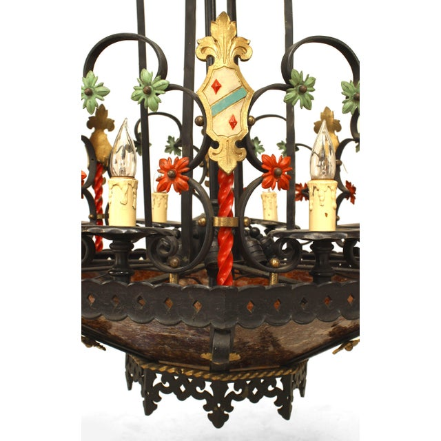 Gothic 1920s English Gothic Revival Style Chandelier For Sale - Image 3 of 5