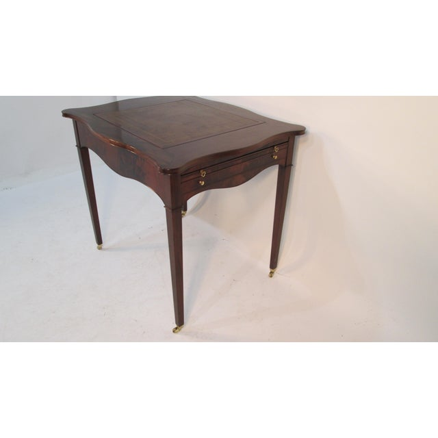 Very unusual gaming table made by The Beacon Hill collection in Boston and Cambridge MA. This table is made of mahogany...